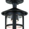 Elstead Hereford BL21A Round Black Hanging Lantern